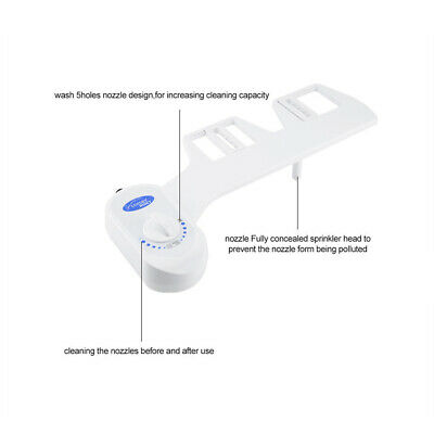 Toilet Bidet Seat Spray Water Wash Attachment Bathroom Home Sanitation 1 Nozzle 6
