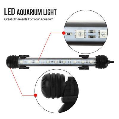 Aquarium Fish Tank 5050 SMD RGB White&Blue Color LED Light Bar Lamp Submersible 8