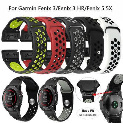 Silicone Quick Install Band Easy Fit Wrist Strap For Garmin Fenix 3 5 5X Plus 3