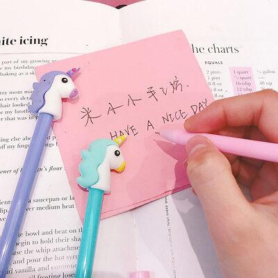 Unicorn Gel Pen Black Ink Pen Kawaii Stationery Kids School Office Supplies Gift