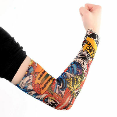 10Pcs Cooling / Tattoos Arm Sleeves Sun UV Protection Cover Sport Basketball 7