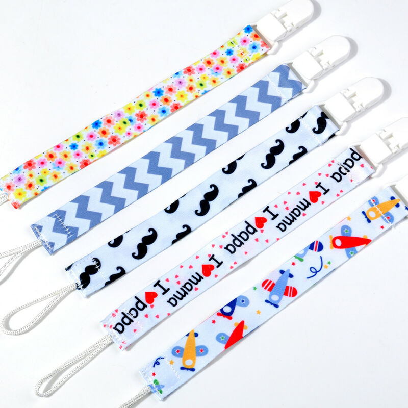 Kids Baby Chain Clip Holders Boy Girl Dummy Pacifier Soother Nipple Leash Strap 2