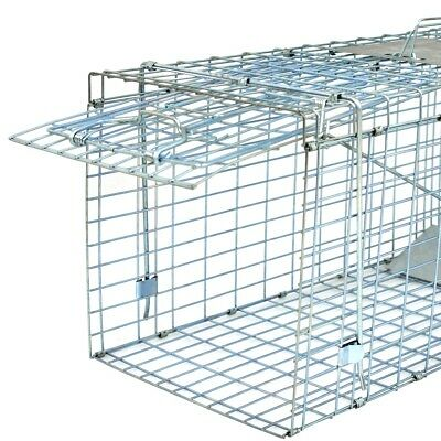 32'' Humane Live Animal Trap 1 Door Rodent Cage for Rabbits Cat Raccoon Squirrel 3