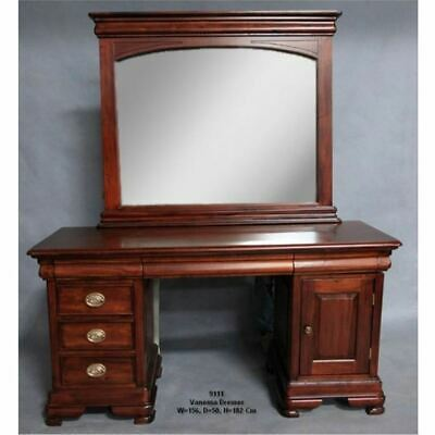 Miraculous Solid Mahogany Wood Bedroom Set Sleigh Bed Bedside Dressing Table Queen Size Download Free Architecture Designs Scobabritishbridgeorg