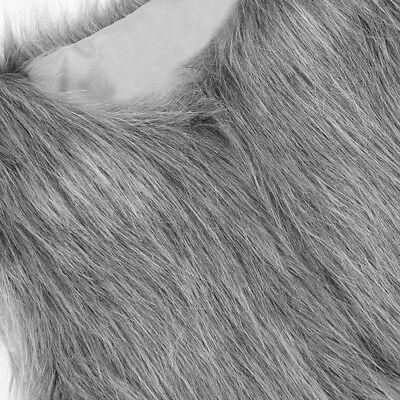 Baby Girls Kid Winter Faux Fur Waist Gilet Jacket Outwear Vest Coat Waistcoat AE 10