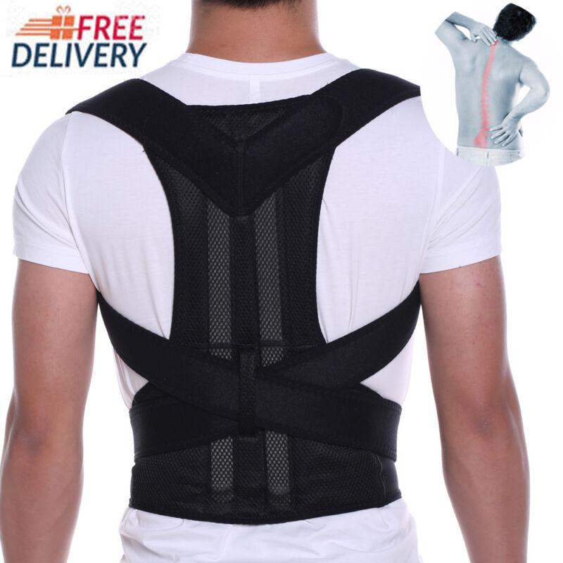 Adjustable Back Posture Corrector Lumbar Shoulder Support Brace Belt Unisex AU 5
