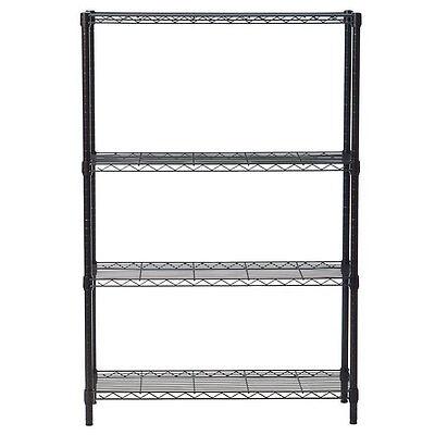 4/5 Tier Storage Rack Organizer Kitchen Shelving Steel Wire Shelves Black/Chrome 3