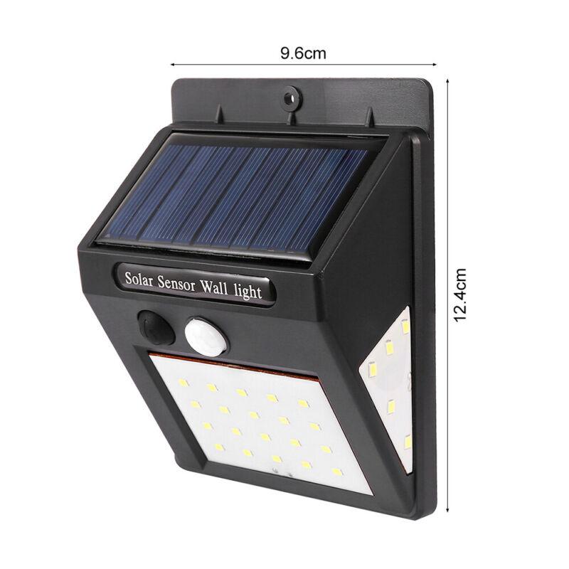 4X 40/30 LED Solar Powered PIR Motion Sensor Wall Security Lights Garden Outdoor 8