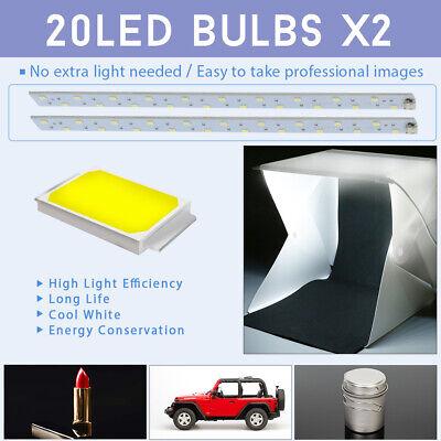 Photo Studio MINI LED Lighting Tent Kit Portable Folding Light Box 6pcs Backdrop 4