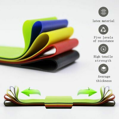 Workout Resistance Bands Loop Set CrossFit Fitness Yoga Booty Leg Exercise Band 6