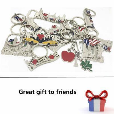 12 Pack New York City Silver Metal Keychains NYC  KeyRing Souvenir  Gift Set 2