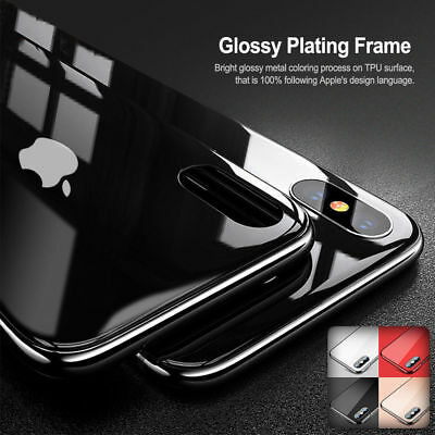 Tempered Glass Phone Case For iPhone Xs Max 8 7 Plus Cover Luxury TPU Hard Cases 8