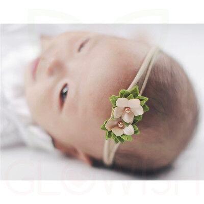 Handmade Newborn Baby Girls Flower Headband Infant Toddler Knot Hair Band Sets 6