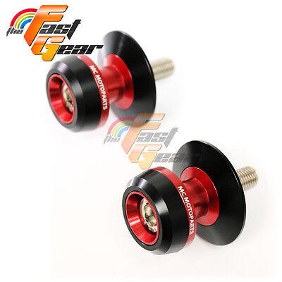 Twall Protector Red  Swingarm Spools Sliders Fit Kawasaki ZX9R 1998-2003