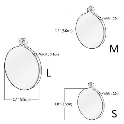 Stainless Steel Personalized Dog Tags Bone Round Military ID Name Tags Sliver 6