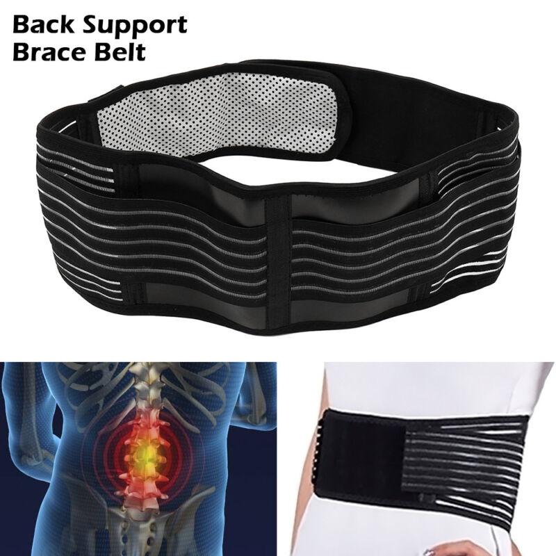 Back Support Brace Belt Lumbar Lower Waist Magnetic Pain Relief Adjust Trimmer 3