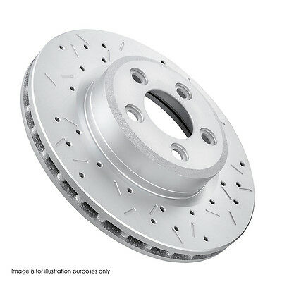 4 FRONT REAR DISC BRAKE ROTORS DRILLED SLOTTED FORD FALCON BA-BF-FG w/ PADS