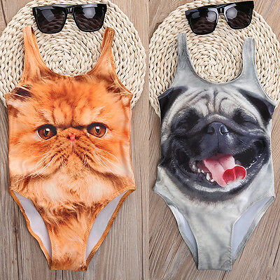 Animal Girls Kids Bathing Suit Swimwear Bikini Tankini Swimsuit Swimming Costume