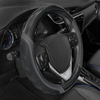 Motor Trend Leather Steering Wheel Gray Ultra Sport