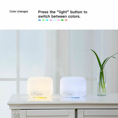 Aroma Aromatherapy Diffuser LED Essential Oil Ultrasonic Air Humidifier Purifier 11