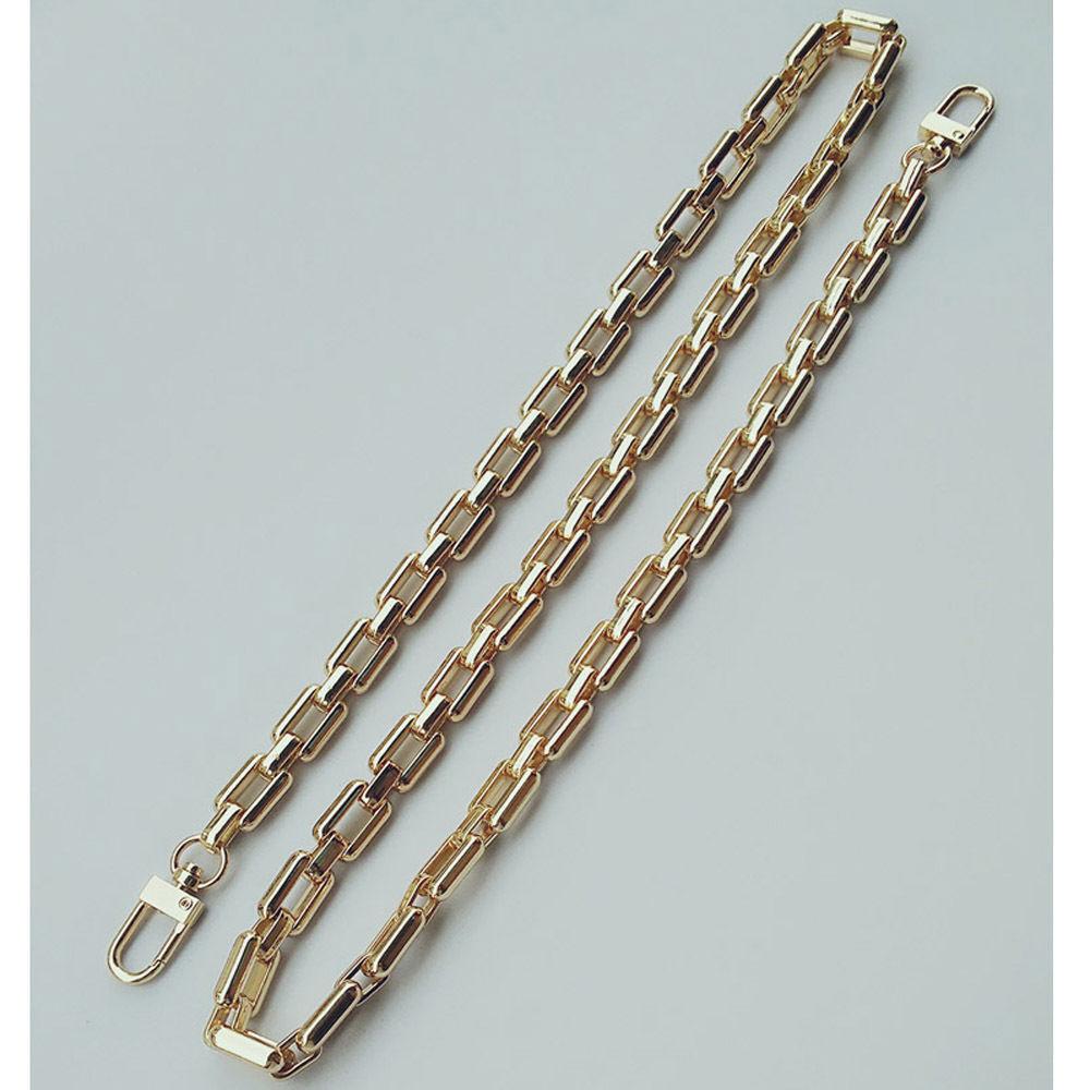 Ersatz 10mm Metallkette Riemen für Schulter Handtasche Gold Mode 110cm