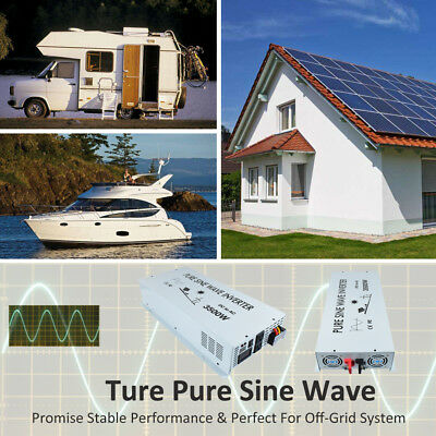 24V to 120V DC to AC Pure Sine Wave Inverter 3500W Solar Power Inverter Home 9