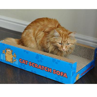 Cat Scratcher Sofa Lounge including free cat-nip Cardboard Scratch Post Cat Bed 2