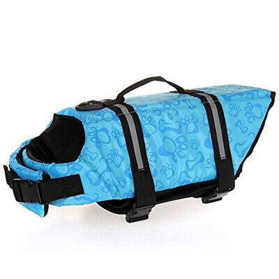 Pet Swimming Safety Vest Dog Life Jacket Reflective Stripe Preserver Puppy US 9