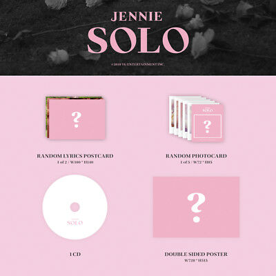 BLACKPINK JENNIE [SOLO] PHOTOBOOK CD+POSTER+Photo Book+Post Card+Card SEALED 5