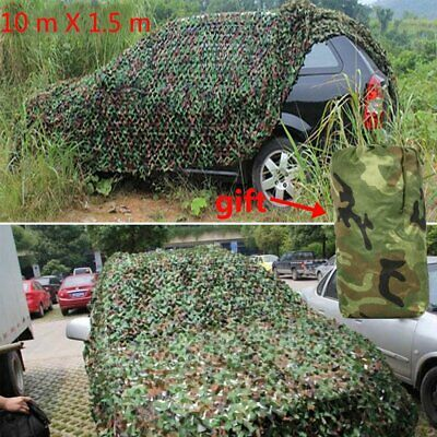 Camouflage Net Camo Hunting Shooting Hide Army Camping Woodland Netting 10Mx1.5M 2
