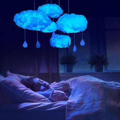 Diy Handmade Cotton Cloud Shape Led Light Hanging Night Lamp Home Bedroom Decor 9 62 Picclick