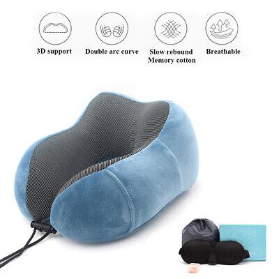 Travel U Shaped Neck Pillow Support Head Rest Cushion Sleeping Pad Memory Foam 2