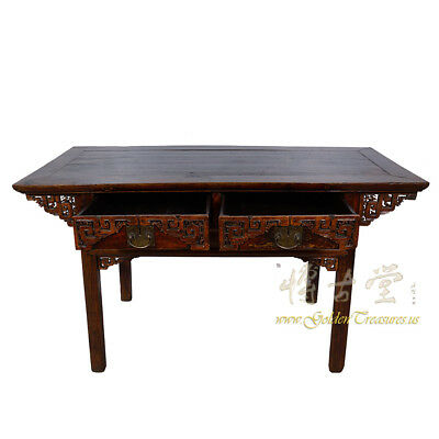 Chinese Antique Carved Zhejiang Writing Desk/Console Table 17LP12 3
