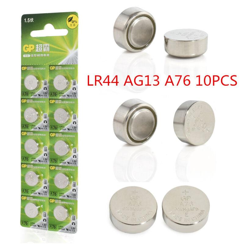 10pcs 1.5V GP LR44 AG13 A76 SR66 Button Cell Coin Battery Batteries NEW 2