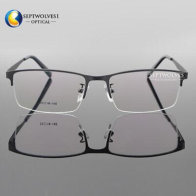 a111ca2366a ... Men Titanium Metal Half Rimless Myopia Eyeglasses Frames Optical  Eyewear Rx Able 2