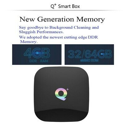 Smart Tv Box Q-Plus Android Pie 9.0 4Gb Ram 64Gb 6K Wifi Dazn New 2
