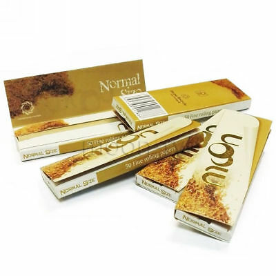 """Moon 1.0"""" 100 booklets 70*36mm Cigarette Tobacco Rolling Papers Unbleached Paper"""
