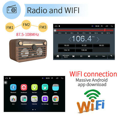 10.1'' 2DIN   Car Stereo Radio Android 8.1 GPS Navi WIFI Bluetooth FM MP5 Player 6