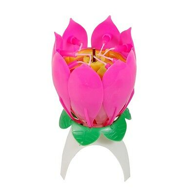2 Of 8 Amazing Happy Birthday Musical Magical Opening Lotus Flower Candle For Party