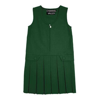 Girls School Uniform Pinafore  Box Pleated Elasticated waist school kids Skirt 2