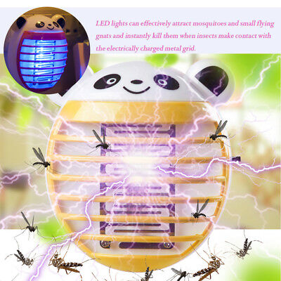 LED Socket Electric Mosquito Fly Bug Insect Killer Zapper Night Lamp Light C