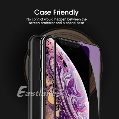 2X Apple iPhone XS Max XR X 6D Full Cover Screen Protector Tempered Glass Black 4