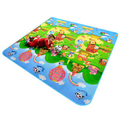 2mx1.8m Baby Kids Floor Play Mat Rug Picnic Cushion Crawling Mat Waterproof XXL 2