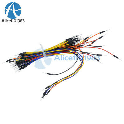 65Pcs Male to Male Solderless Flexible Breadboard Jumper Cable Wires For Arduino 6