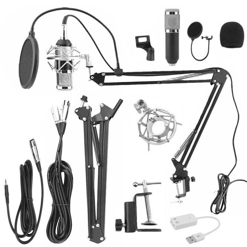 Audio Vocal Studio Condenser Microphone Mic Sound Recording Kit with Shock Mount 8