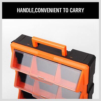 12-60 Drawers Storage Cabinet Tool Box Parts Organiser Bin Chest Case Plastic