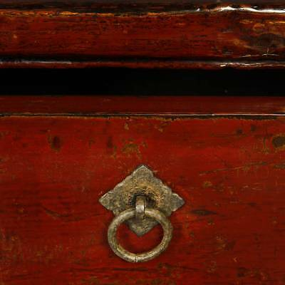 3 Of 6 Antique Chinese Qing Console Cabinet Table Red Lacquer Furniture  China 19Th C.