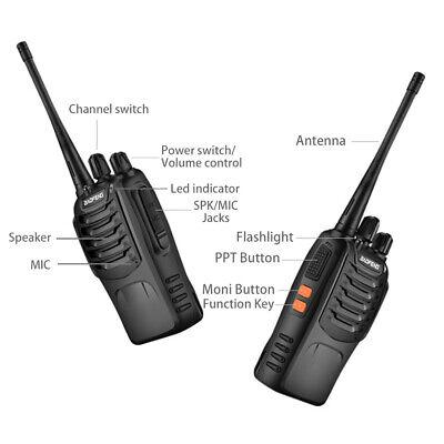 2x Walkie Talkie BF-888S UHF 400-470MHz 5W 16CH Portable Two-Way Radio AU Stock 6