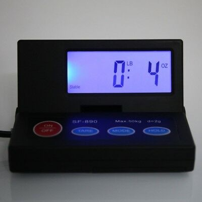 DIGITAL SHIPPING SCALE POSTAL PARCEL SCALE 110 LBS CAPACITY w/ AC ADAPTER 4