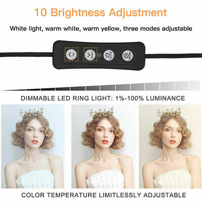 14 Inch LED Ring Light With Stand and Phone Holder Make-up for Camera iPhone UK 5